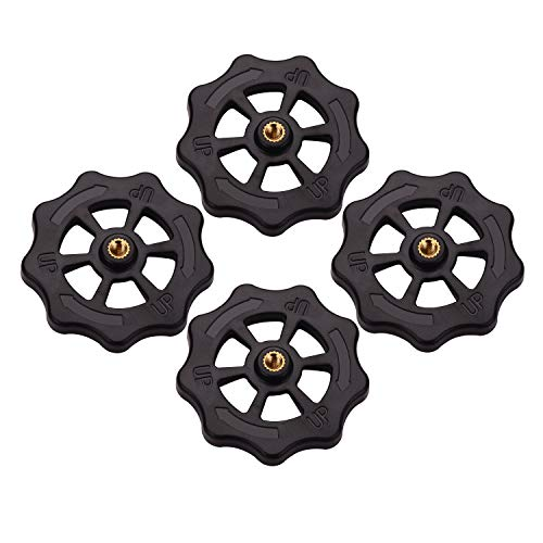 Aibecy 4pcs 3D Printer Hotbed Platform Upgraded Big Hand Twist Leveling Noten Diameter 52mm Compatibel met Creality Ender 3 TEVO