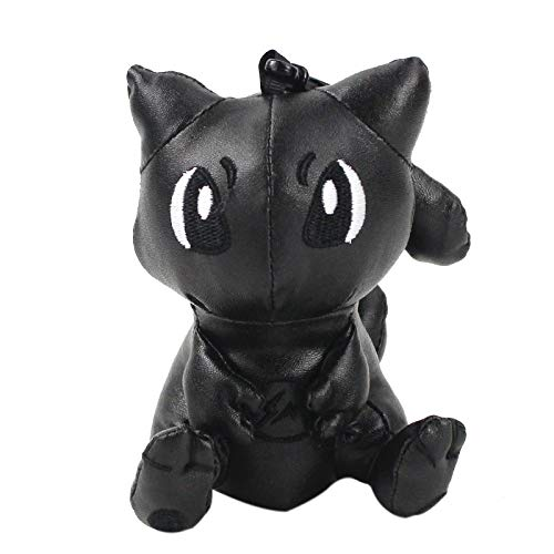 aolongwl Stuffed toy 12cm New Black Mewtwo Plush Mini Pendants Toys Cute Backpack Key chain Doll gifts for kids