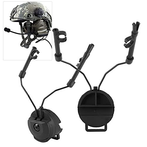 Suporte de fone de ouvido, rotativo e conveniente flexibilidade Protetores de ouvido de segurança Adaptador de capacete de fone de ouvido para acessório de caça ao ar livre