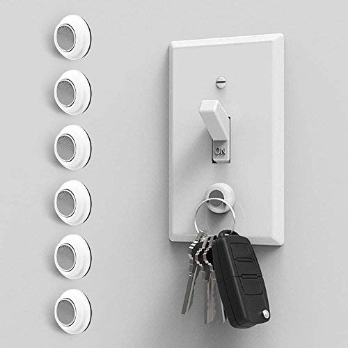Eutuxia Magnetic Key Holder for Wall - Get Your Car & Home Keys Easier and Faster. Heavy Duty Magnets, Wall Key Holder, No Drilling, 3M Key Hook. [6 PK]