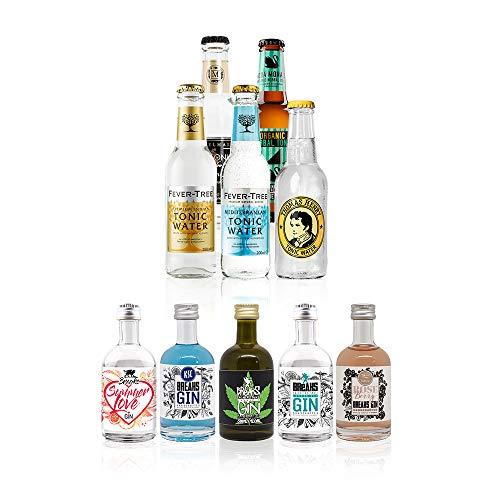 Breaks Gin Tasting Box No. 1 - Deine Gin-Tasting-Box für Zuhause! 5 Breaks Gin + 5 Flaschen verschiedene Tonic Water, inklusive Anleitung. Sehen, riechen, schmecken.