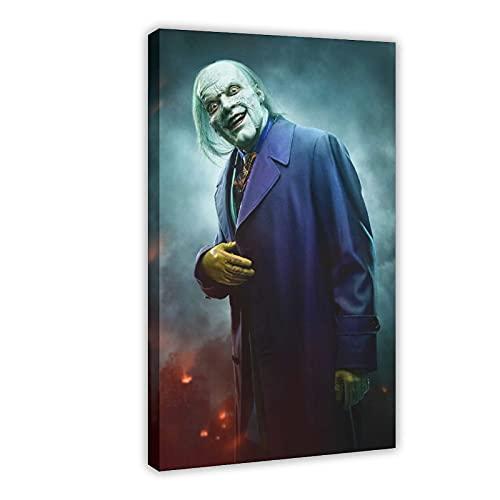 Poster sur toile Joker Gotham Saison 5 - Décoration murale pour salon, chambre à coucher - 60 x 90 cm