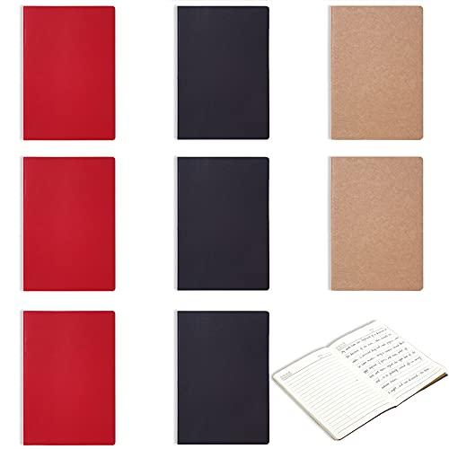 9 Pezzi Quaderni Diario, Diario Pagine, Blocco Note, Kraft Paper Notebook, Adatto Per Diari, Diari di Viaggio, Libri di Poesie, Scrittura Creativa, Documenti di Lavoro, Appunti di Studio