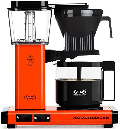 Allshiny Tostadora 59607 KBG, cafetera para 10 Tazas, 40 oz, Rosa (Color : Orange, Size : Coffee Brewer)