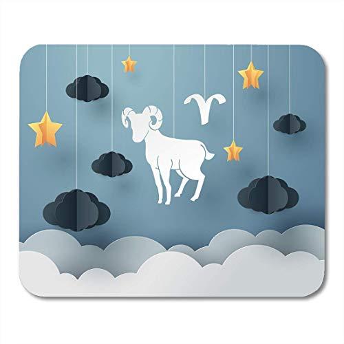 Muismat kalender Astrologie van schapen tot ram en ram sterrenbeeld en horoscoop concept en astronomie constellatie muismat