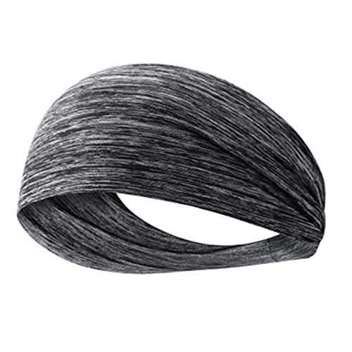 PPLAX Yoga Stirnband Elastisches Yoga Stirnband Sport Armband Damen/Männer Laufen Sport Hairband Stirnband Outdoor Fitness Sport Armband Sportbandage (Color : Light Grey)