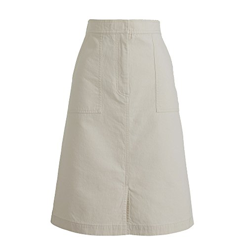J Crew Women's Cotton A-Line Skirt with Pockets Natural Beige 0