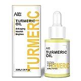 ANAIRUI Turmeric Facial Oil, Premium Anti-Aging Skin Oil, Natural & Organic Face Moisturizer Oil, Anti Frecles Face Oil for All Skin Types, 1.06oz