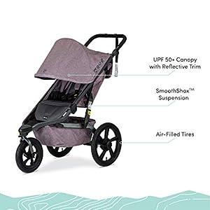 BOB Gear Alterrain Jogging Stroller | Quick Fold + Adjustable Handlebar + XL UPF 50+ Canopy, Melange Lilac