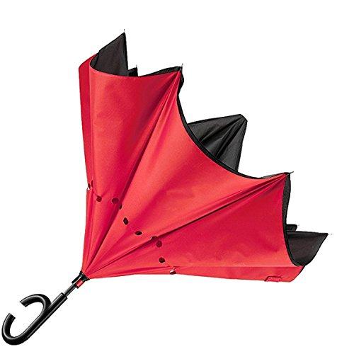 - Senza marca/Generico - Ombrello inverso Reversibile Antivento Colori Casuali