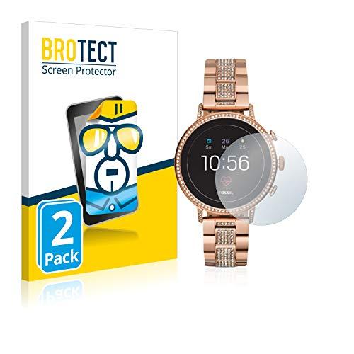 BROTECT Schutzfolie kompatibel mit Fossil Q Venture HR (4.Gen) (2 Stück) klare Bildschirmschutz-Folie
