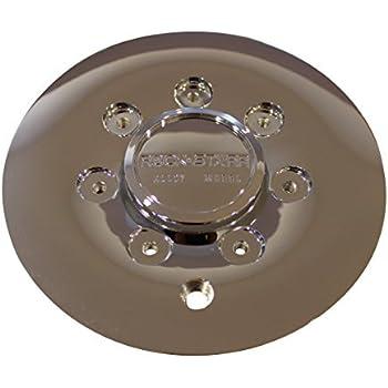 Rock Starr Alloy Wheel CAP515L185 515 Optimus Black Wheel Rim Center Cap Rock Starr Wheels CAP4515L185B