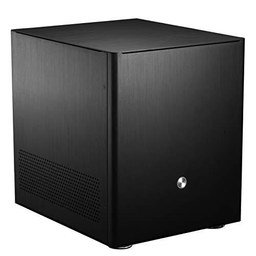 Jonsbo V4 Mini-ITX Micro-ATX Computergehäuse, PC Hülle, Micro ATX, PC Gehäuse Klein, Pc Case Black, Tower pc gehäuse, Dezentes Design Computer Gehäuse, Schwarz