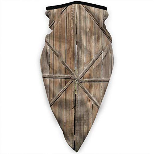 NA oude houten schuur deur Unisex hals Gaiter Warmer Balaclava volledig gezicht masker Unisex zon-proof hoofd sjaal