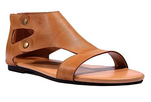 Minetom Mujeres Pescado Boca Zapatos Sandalias Una
