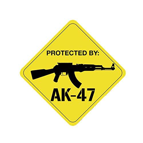 Pegatinas de Coche-Calcomanía Use la pistola AK47 para proteger calcomanías personalizadas para automóviles, calcomanías impermeables, computadoras portátiles, camiones, motocicletas, suministros