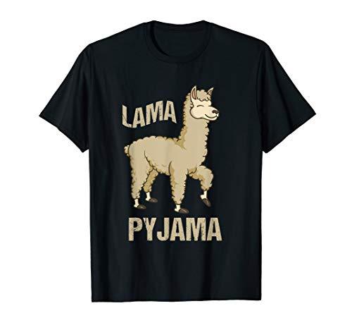 Alpaka Lama Pyjama T-Shirt