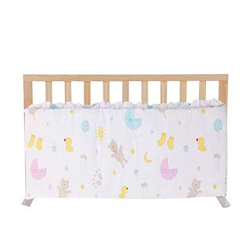 KOSGK Massiv trä säng skyddsräcke, baby sängkant anti-fall säkerhetsram (färg: A, storlek: 98 cm)