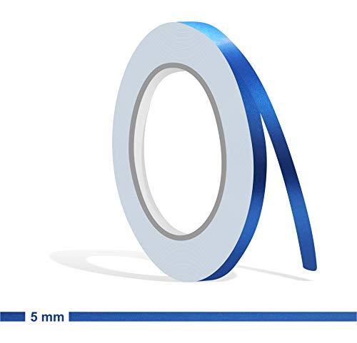 Siviwonder Zierstreifen blau metallic matt in 5 mm Breite und 10 m Länge für Auto Boot Jetski Modellbau Klebeband Aufkleber Folie Dekorstreifen