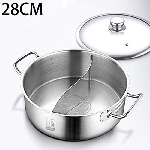 Pot, roestvrij staal Hotpot Soup Stew Pots non-stick pan Cookware keuken koken hulpmiddel inductie gasfornuis casserole