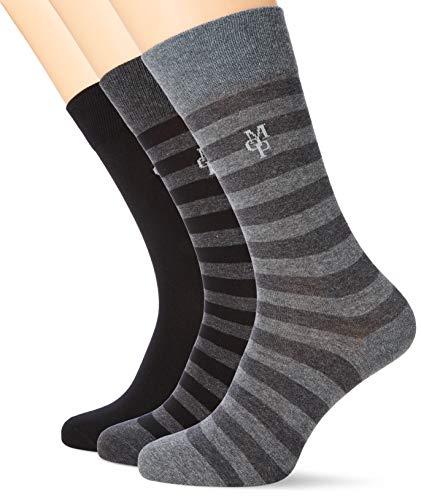 Marc O'Polo Body und Beach Herren M (3-PACK) Socken, Schwarz (Schwarz 000), 43/46 (Herstellergröße: 406) (3er Pack)