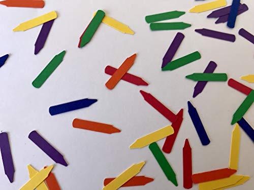 Primary Color Crayon Confetti - Crayon Decorations - Coloring Party Decor - Art Party Decor - Art Birthday Party - Kids Birthday Party - 300 pieces