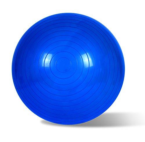 EmpireAthletics – Palla da seduta e da ginnastica in gomma elastica con 85 cm di circonferenza – sedia fitball palla pilates palla Pezzi in BLU