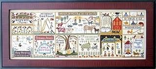 Farms Of Hawk Run Hollow Cross Stitch Chart and Free Embellishment