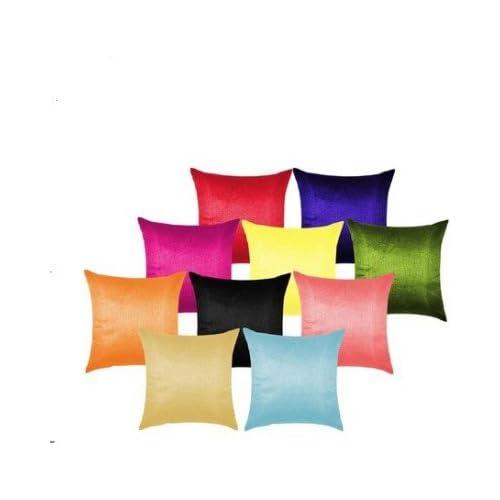 MSenterprises Polyester Plain Cushion Covers 12x12 Set of 10 (30x30cm, Multicolour)