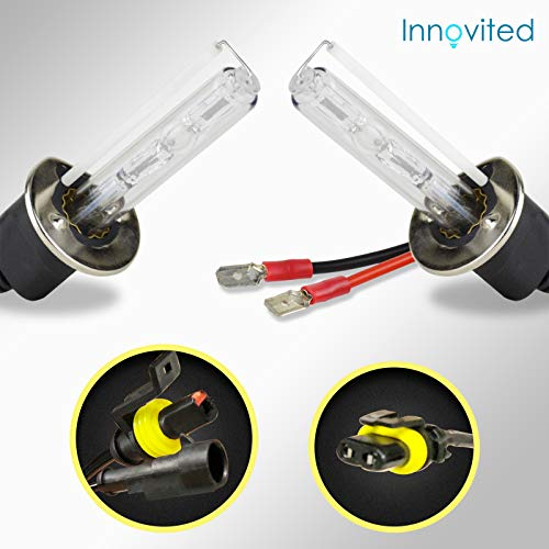 Innovited HID Xenon H1 6000K Replacement Bulbs (1 Pair) Diamond White