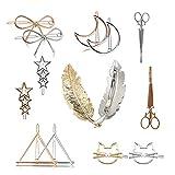 Ymwave Pinzas Pelo de Metal Vintage Huecas Pinzas para el Cabello Accesorios para el Pelo para Mujer y Niñas,14 Piezas