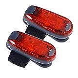 VORCOOL Luz de Calentamiento de luz LED de Seguridad para Correr de Noche Caminar en Bicicleta (luz roja)
