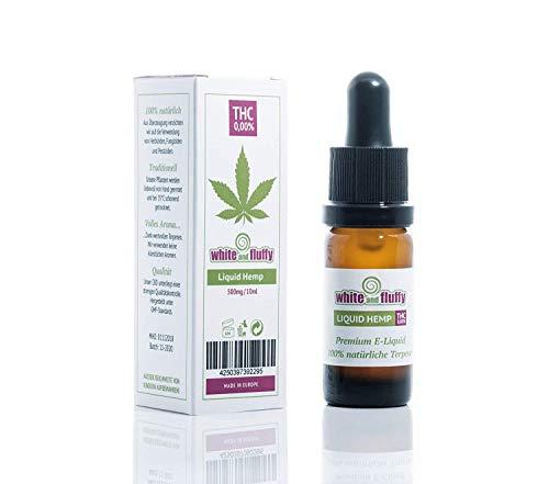 White and Fluffy® 500mg CBD Liquid •PUR HEMP• Test-Note 1,4 • PG VG 10ml• PURER Cannabis