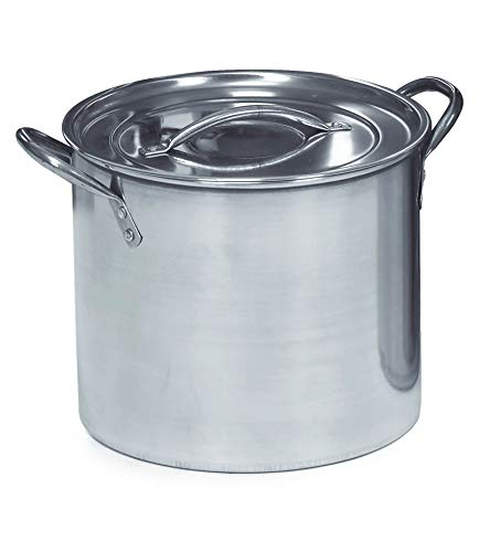 IMUSA USA Stainless Steel Stock Pot 20Quart Silver