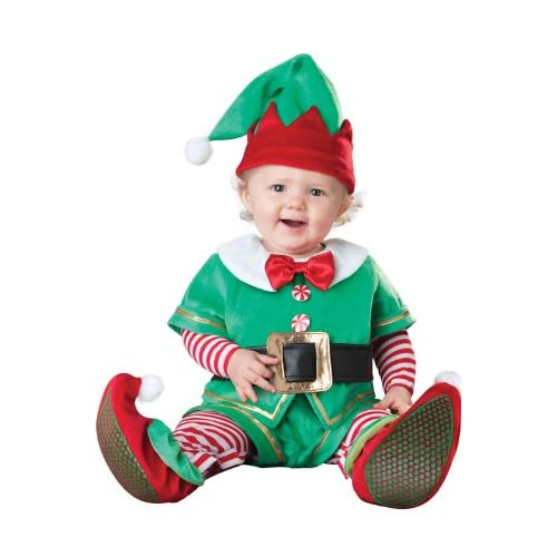 Christmas Santa Elf Red /& Green Infant or Toddler Size Costume