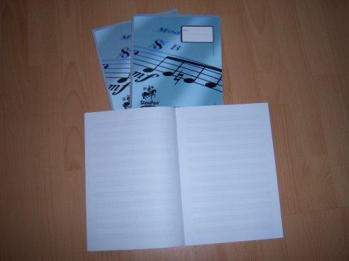 Notenheft DIN A4 8 Blatt 12 Notensysteme Linea - Liefermenge 25 Stück