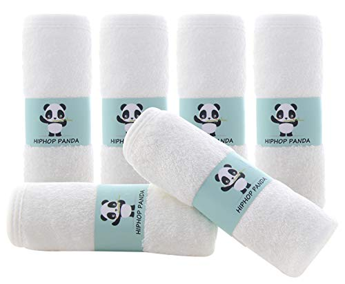 Bamboo Baby Washcloths - Hypoallergenic 2 Layer Ultra Soft Absorbent Bamboo Towel - Newborn Bath Face Towel - Natural Reusable Baby Wipes for Sensitive Skin - Baby Registry as Shower