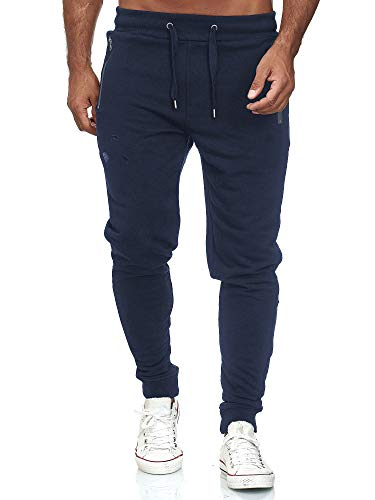 Red Bridge Herren Jogginghose Jogger Hose Freizeithose Sweat-Pants R-B-J M4236-Dunkelblau-XL