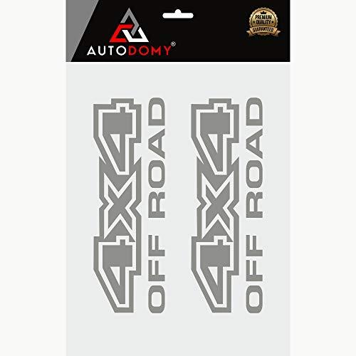 Autodomy Pegatinas 4x4 Todoterreno Off Road Pack 2 Unidades para Coche 1 Blanco