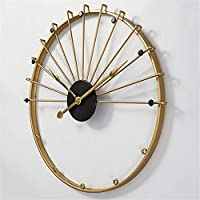 YIBOKANG ノルディック壁時計リビングルームシンプルな金属スペイン風スタイル装飾的な壁掛け時計クリエイティブライト高級時計