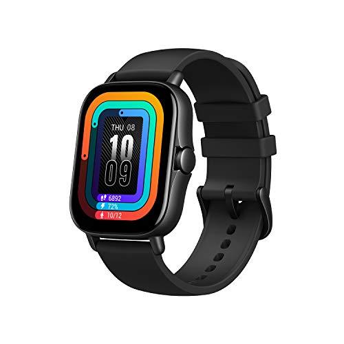 Amazfit GTS 2 Smartwatch Reloj de Pulsera Inteligente con Llamada Bluetooth 12 Modos Deportivos Monitor de saturación de oxígeno Sangre y de Frecuencia Cardíaca Almacenamiento de música de 3 GB Negro