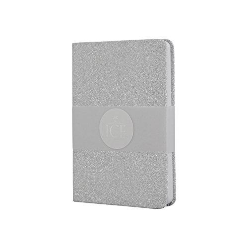ICE ICE300148 London - Cuaderno con purpurina, color plateado