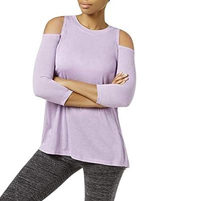 Calvin Klein Performance Womens Fitness Yoga Pullover Top Purple M