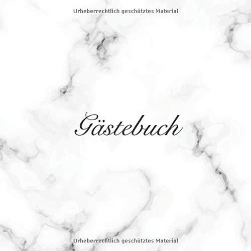 Gästebuch: Elegantes Weißes Marmor Hochzeits Gästebuch für Unsere Hochzeit - 120 Gäste