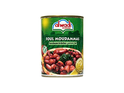Al Wadi Foul Moudammas - Fava Beans in Brine, 14-Ounce (Pack of 12)
