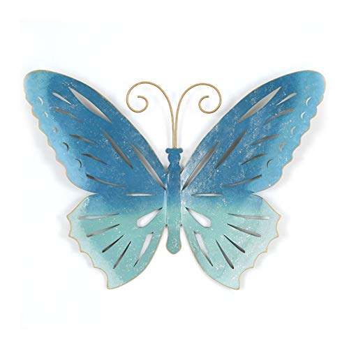 Metal Butterfly Wall Decor 3D Wall Art Decorations Hanging Ornament For Kitchen Outdoor Fence Garden Yard Gift(Size:B)