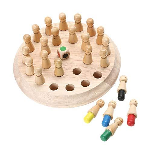 DUOER home Juego de Mesa de ajedrez 1set Madera Partido Memory Stick Juego de ajedrez Infantil temprana 3D educativos del Rompecabezas de la Fiesta Informal de la Familia Juego Rompecabezas