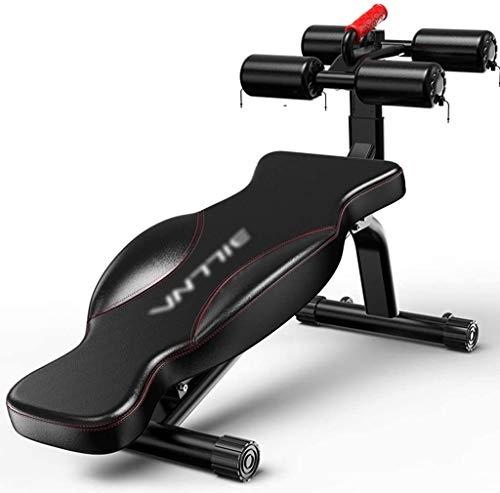RPOLY Multifunktion Hantelbank, Rückenlehne Verstellbar Bauch Rückentrainer Geeignet für Muskeln verschiedenen Teil Fitnesstraining,Black_134x73x38cm