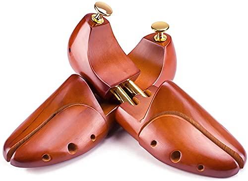 QAZW Zapateros De Madera De Cedro para Hombre y Mujer, Zapatero Ajustable De Madera De Cedro, Alargar y Ensanchar Zapatos, Unisexo, Adecuado para Tacones Altos y Zapatos Planos,Brown-39-40EU