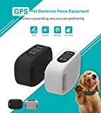Sixin GPS Wireless Dog Fence System,In-ground/Aboveground Pet Containment System,IP66 Waterproof&Rechargeable Collar,Shock&Tone Correction Distance adjustment Max 1000M (White)